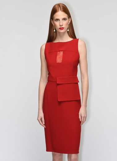 Gamze Saracoglu Elbise Kırmızı